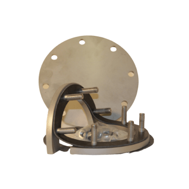 Inspektionsdeckel mit Gegenrahmen (VA)
